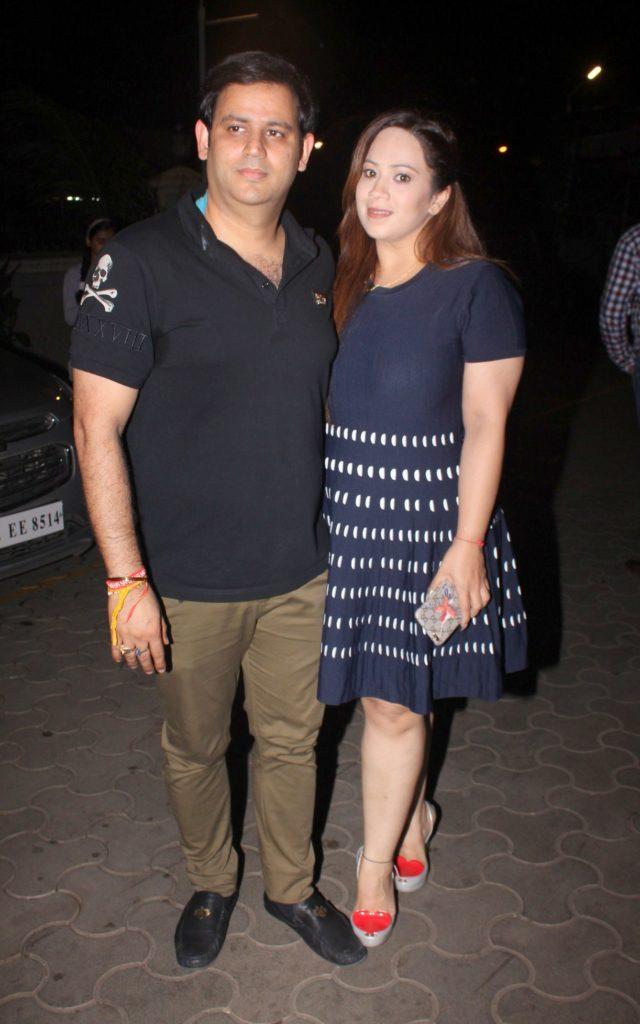 1. Ajay Kapoor with wife Ekta Kapoor