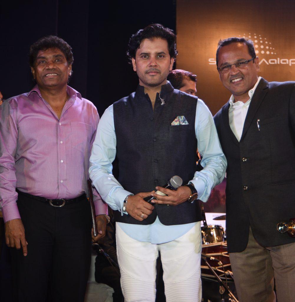 Comedian Johnny Lever, Singer Javed Ali, Swar Alap Founder Dinesh Ghate.