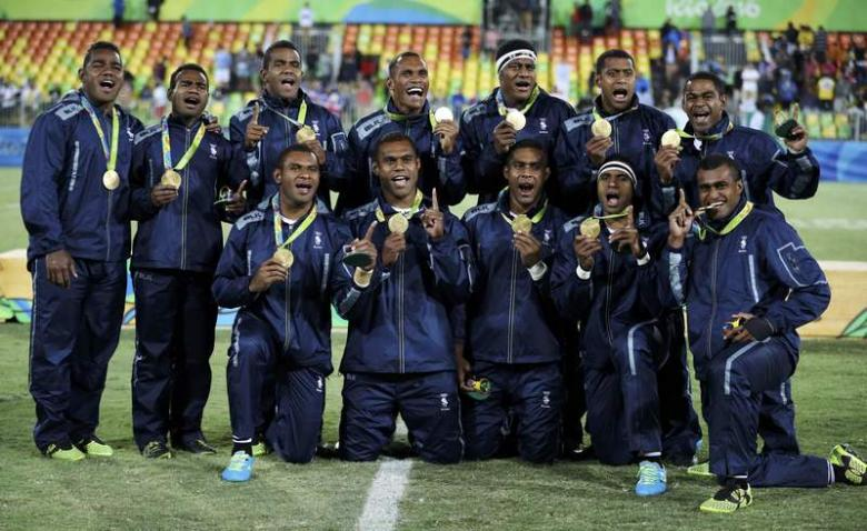 Rugby - Men's Victory Ceremony