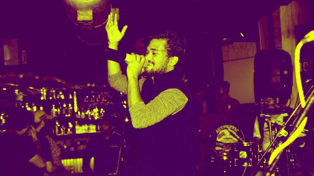12. Sachin Chaudhary performing