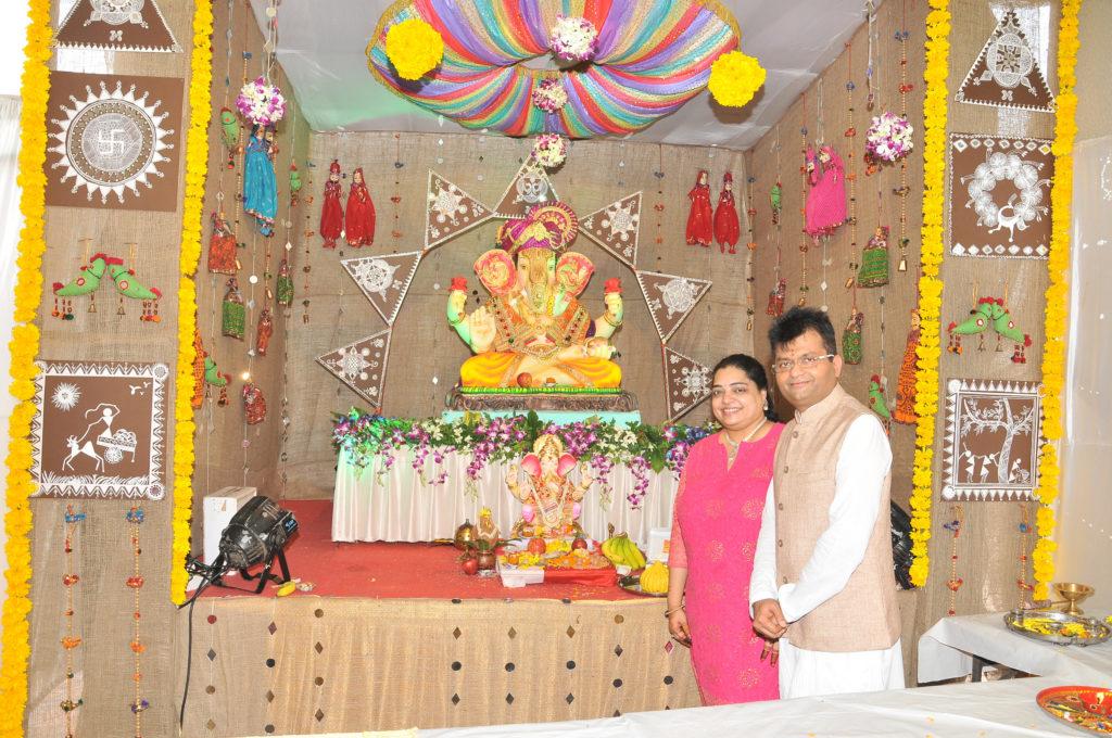3. Dr. Aneel Murarka and Wife Sangeeta Murarka celebrating Ganesh Chaturthi