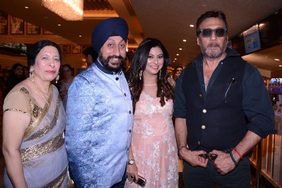 6. Inderjit Kaur Chadha, lakhbir Singh Chadha, Gurpreet Kaur Chadha with Jackie Shroff