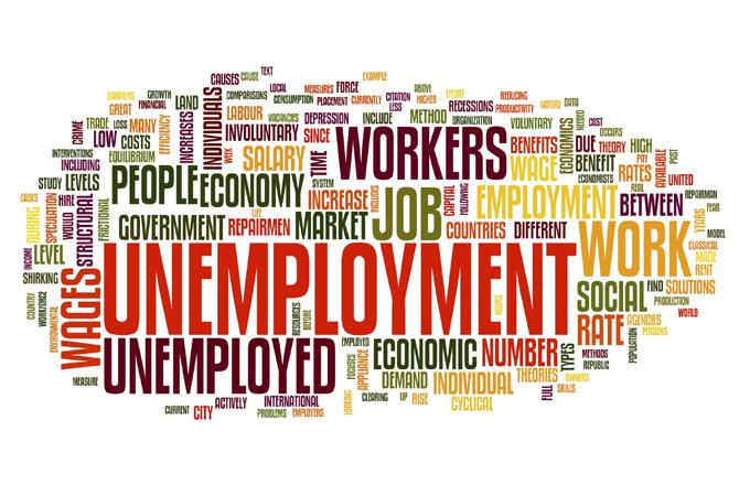 Unemployment concept in tag cloud