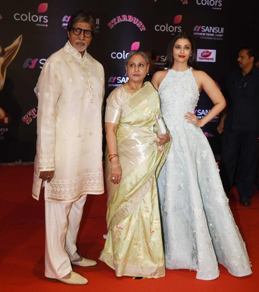 amitabh-bachachn-jaya-bachan-aswarya-rai-bachachan-at-sansui-colors-stardust-awards